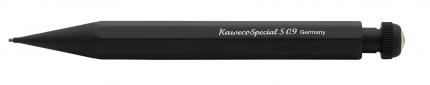 Карандаш механический KAWECO SPECIAL S 0 9мм с ластиком черный