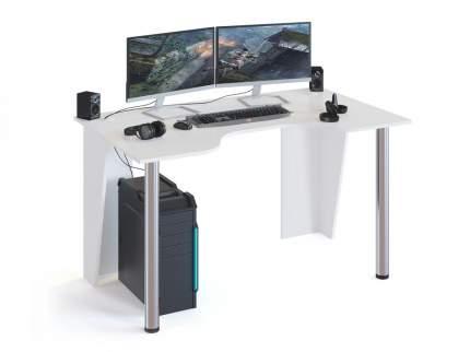Компьютерный стол СОКОЛ КС-116 150x90x75, белый/хром