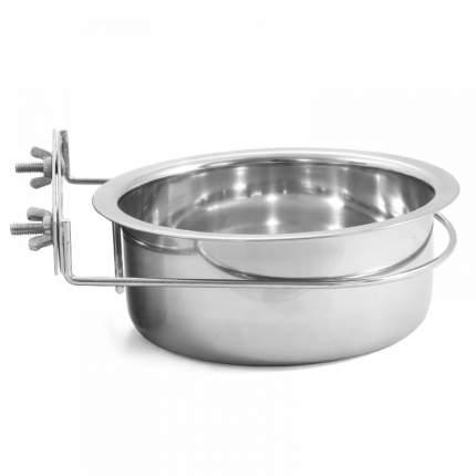 Миска для грызунов Triol, подвесная для клеток, сталь, серебристая, 0,55 л