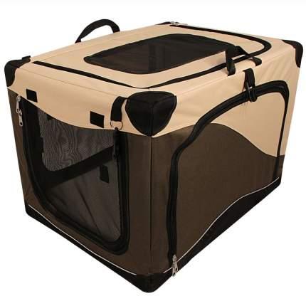 Домик для кошек и собак Triol Дом-тент складной M, бежевый, коричневый, 76x50.5x48см