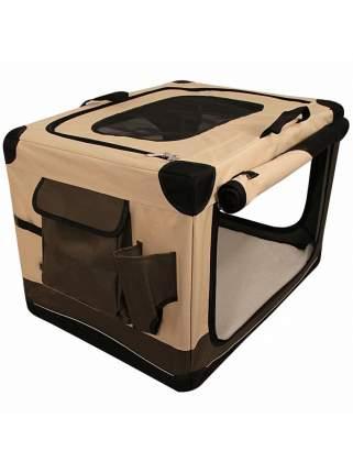 Домик для кошек и собак Triol Дом-тент складной S, бежевый, коричневый, 61x45.5x43см