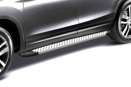 """Комплект алюминиевых порогов Arbori """"Standart Silver"""" длина 1700мм без крепежа"""