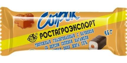 Творожный сырок Б.Ю. Александров глазированный соленая карамель СЗМЖ 45 г
