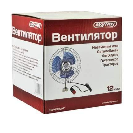 "Вентилятор 6""12V  SKYWAY винт. крепление металл-пластик"
