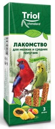 Лакомство для мелких и средних попугаев Triol, с фруктами, 3 шт