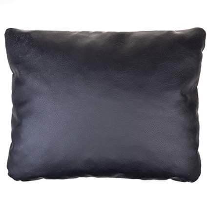 Подушка на сиденье SKYWAY экокожа перф. Черная (строчка Красная)