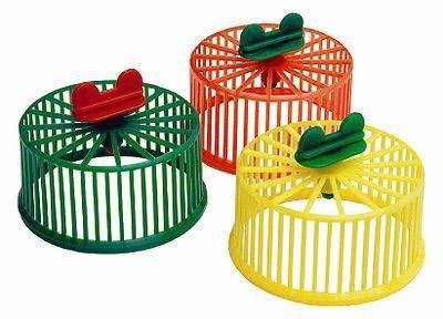 Беговое колесо для грызунов Дарэлл пластик, без подставки, в ассортименте, 9 см