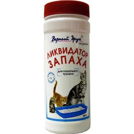 Ликвидатор запаха для кошачьего туалета Верный Друг, порошок, 500г