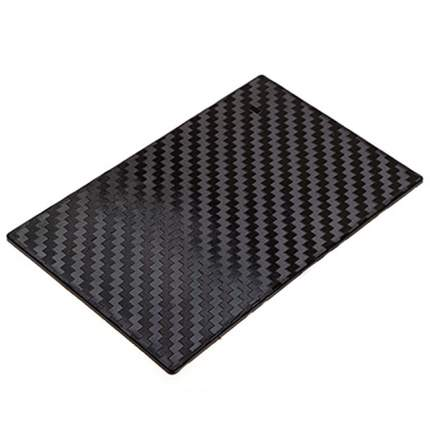 Коврик панели противоскользащий SKYWAY плоский принт карбон 195*120*4 мм