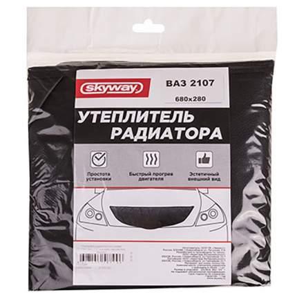 Утеплитель радиатора 680х280мм SKYWAY ВАЗ 2107 иск кожа, наполнитель поролон