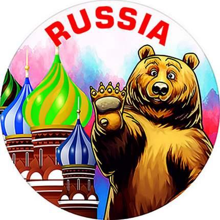 Чехол запасного колеса RUSSIA R16,17 диаметр 77см SKYWAY эко-кожа (полиэстер)