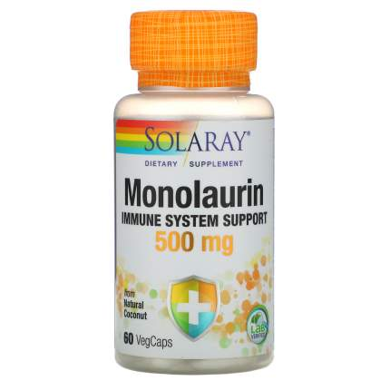 Solaray - Monolaurin 500 мг (60 капсул) - препарат для иммунитета с монолаурином