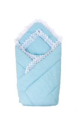 Конверт-одеяло на выписку с вуалью Золотой Гусь голубой