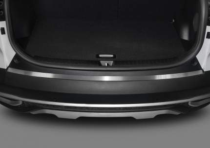 Накладка на задний бампер RIVAL для Kia Seltos 2020-н.в., нержавеющая сталь, NB.2816.1