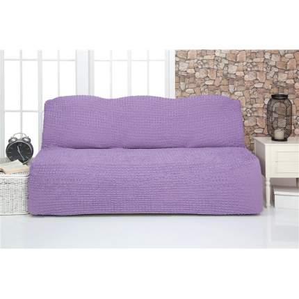 Чехол на трехместный диван без подлокотников и оборки Venera, сиреневый