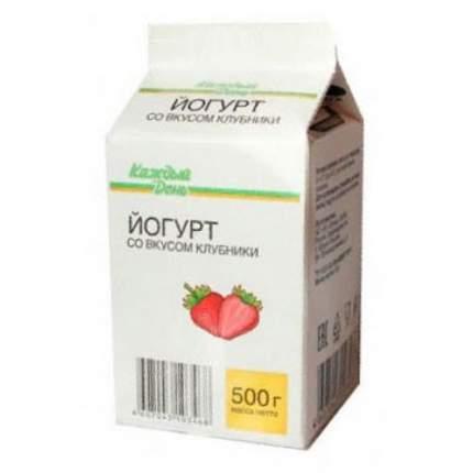 Питьевой йогурт Каждый День клубника 2,5% 500 г