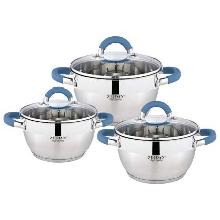Набор посуды Zeidan Z-50619 Серебристый, синий