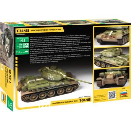 Модель сборная Советский средний танк Т-34/85 (обр, 1944г) 3687з Zvezda