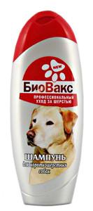 Шампунь для собак БиоВакс для короткошерстных универсальный, крапива и ланолин, 350 мл