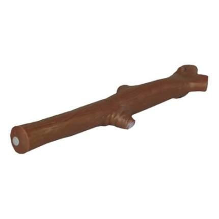 Апорт для собак Зооник Ветка из винила, коричневый, 33 см