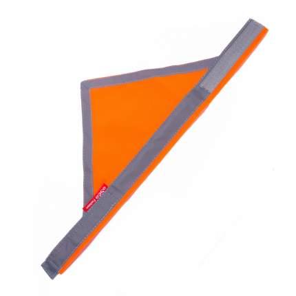 Бандана для собак OSSO Fashion сигнальная, унисекс, желтый, оранжевый, XL, шея 50-66см