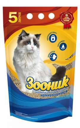 Комкующийся наполнитель для кошек Зооник бентонитовый, 4 кг, 5 л