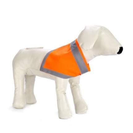 Бандана для собак OSSO Fashion сигнальная, унисекс, оранжевая, размер L
