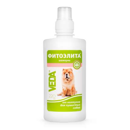 Шампунь для собак VEDA Фитоэлита от колтунов для пушистых, череда, 220 мл