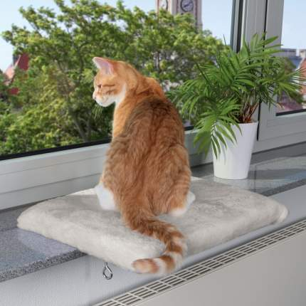 Лежанка для кошек TRIXIE 36x51x4см серый