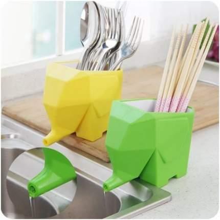 Органайзер для столовых приборов в форме слоника Kitchen Drain device (Жёлтый)