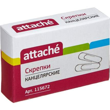 """Скрепки """"Attache"""", металлические, оцинкованные, 28 мм, 100 штук"""
