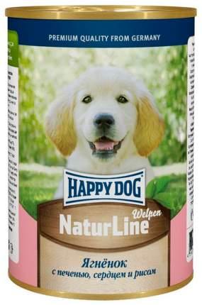 Консервы для щенков Happy Dog NaturLine с ягненком, печенью, сердцем и рисом, 20шт по 400г