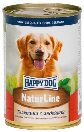 Консервы для собак Happy Dog NaturLine, с телятиной и индейкой, 20шт по 400г