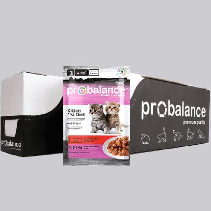 Влажный корм для котят ProBalance 1'st Diet, с телятиной в желе, 25шт по 85г
