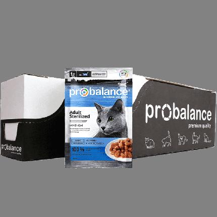 Влажный корм для кошек ProBalance Sterilized, с курицей, 25шт по 85г