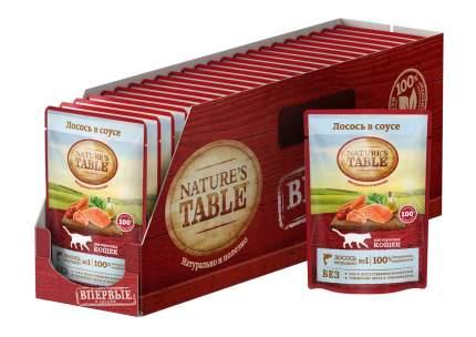 Влажный корм для кошек Nature's Table Лосось в соусе, 24 шт по 85г