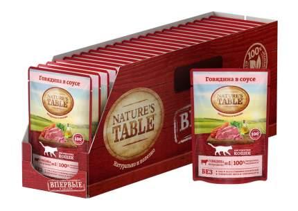 Влажный корм для кошек Nature's Table Говядина в соусе, 24 шт по 85г