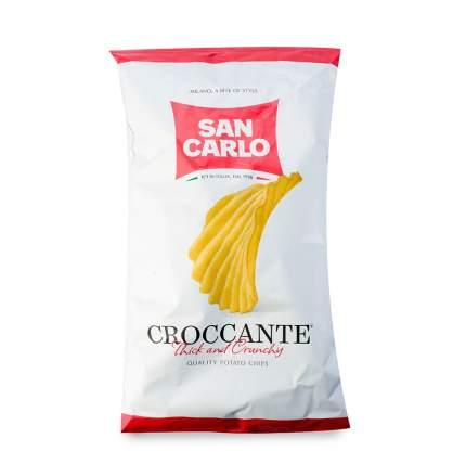 Чипсы картофельные SAN CARLO Rustica рифленые с морской солью 180 г Италия