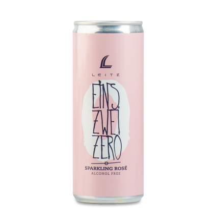 Игристое вино немецкое розовое безалкогольное Eins-Zwei-Zero Rose 0.25 L