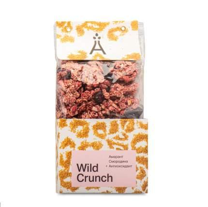 Гранола хрустящая Wild Crunch, «Амарант и Смородина» от Елены Наумовой, 260 г, Москва