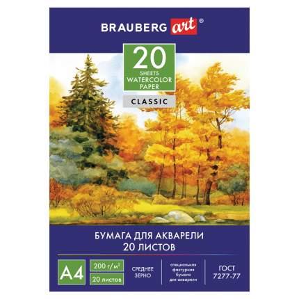 Папка для акварели Brauberg Art Classic Осенний лес А4, 20 листов, 210х297 мм