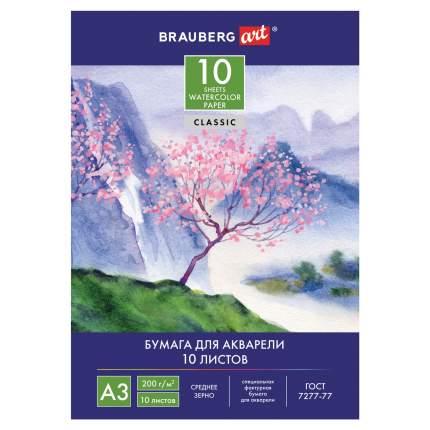 Папка для акварели Brauberg Art Classic Сакура А3, 10 листов, 297х420 мм