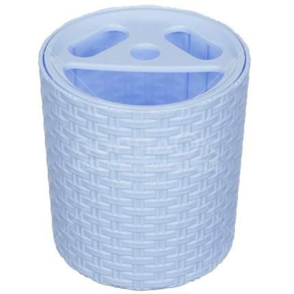 Подставка для зубных щеток Плетенка (голубая)