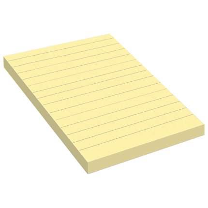 Стикеры Post-It Original линованные желтые, 102х152 мм, 100 л.