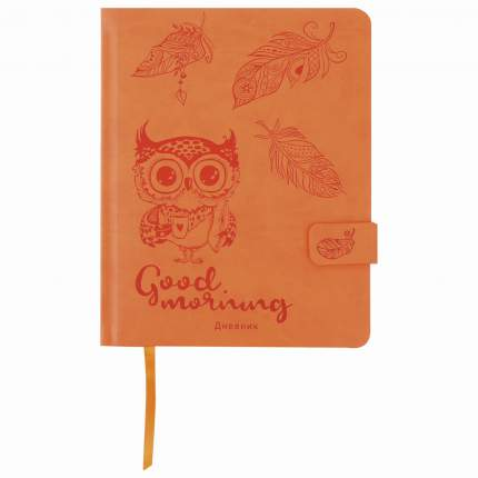 Дневник 1-4 класс Юнландия Совенок, обложка кожзам твердая, застежка, 48 л.