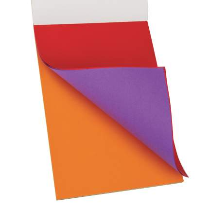 Цветная бумага Юнландия А4 тонированная в массе, 40 листов, 8 цветов, 210х297 мм