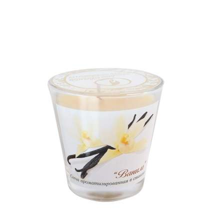 Свечи ароматизированная в стакане Ваниль