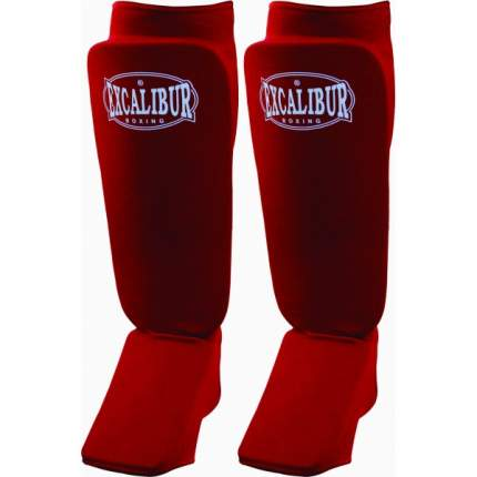 Защита голени и стопы Excalibur 1104, красная, S