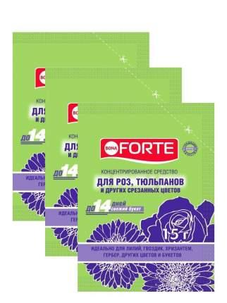 Комплект Bona Forte Средство сухое для срезанных цветов, пакет 15 гр. х 3 шт.