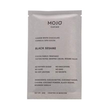 Шоколад белый веганский Mojo Cacao Black Sesame с черным кунжутом 20г Россия